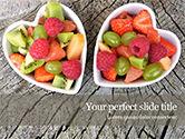 Food & Beverage: Healthy Fruit Salad PowerPoint Template #15595