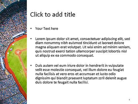 Baseball Stadium PowerPoint Template, Slide 3, 15596, Sports — PoweredTemplate.com