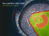 Sports: Baseball Stadium PowerPoint Template #15596