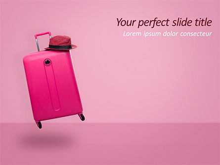 Careers/Industry: Pink Suitcase PowerPoint Template #15597