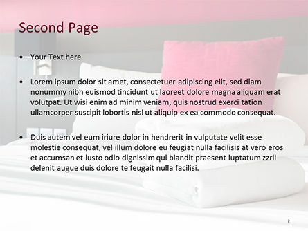 Modern Motel Room PowerPoint Template, Slide 2, 15599, Careers/Industry — PoweredTemplate.com