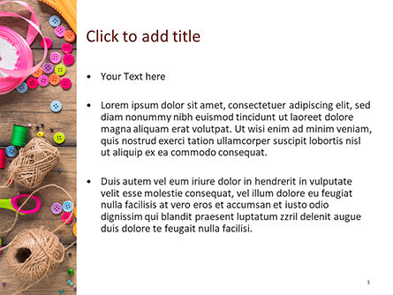 Crafting PowerPoint Template, Slide 3, 15602, Careers/Industry — PoweredTemplate.com