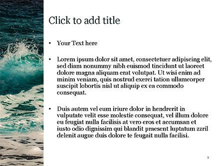 Raging Sea Waves PowerPoint Template, Slide 3, 15603, Nature & Environment — PoweredTemplate.com