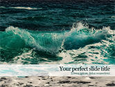 Nature & Environment: Raging Sea Waves PowerPoint Template #15603