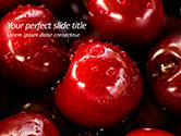 Food & Beverage: Wet Cherry Closeup PowerPoint Template #15612
