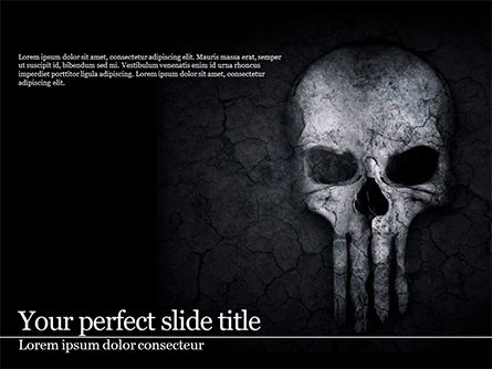Military: Punisher skull PowerPoint Template #15615