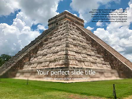 Construction: Mesoamerican Pyramid PowerPoint Template #15617