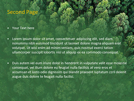 Tropical Rainforest Canopy From Above PowerPoint Template, Slide 2, 15618, Nature & Environment — PoweredTemplate.com