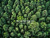 Nature & Environment: Tropische Regenwoudluifel Van Bovenaf PowerPoint Template #15618