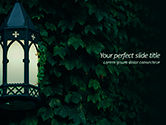General: Lantern on Ivy Covered Wall PowerPoint Template #15620