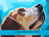 General: Stylized Portrait of Dog PowerPoint Template #15623