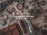 Global: Vintage Pirate Collection on World Map PowerPoint Template #15625