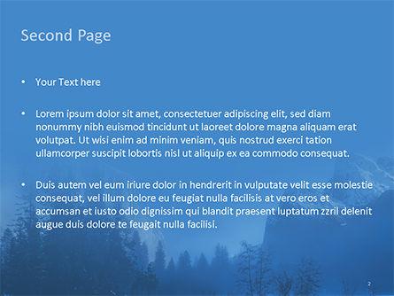 Magnificent Winter Landscape PowerPoint Template, Slide 2, 15626, Nature & Environment — PoweredTemplate.com