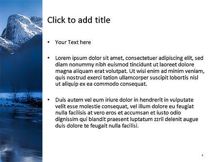 Magnificent Winter Landscape PowerPoint Template, Slide 3, 15626, Nature & Environment — PoweredTemplate.com