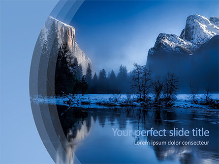 Magnificent Winter Landscape PowerPoint Template, 15626, Nature & Environment — PoweredTemplate.com