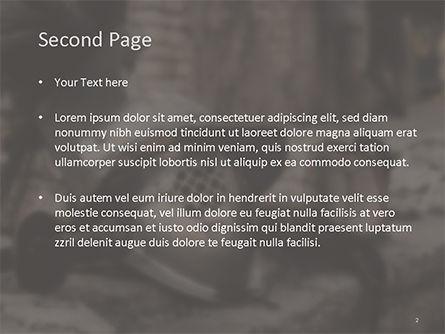 Ancient Medieval Helmet PowerPoint Template, Slide 2, 15627, Education & Training — PoweredTemplate.com