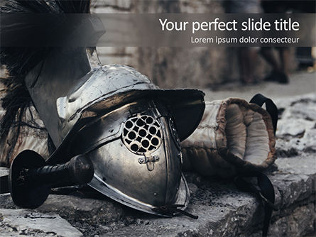 Education & Training: Ancient Medieval Helmet PowerPoint Template #15627