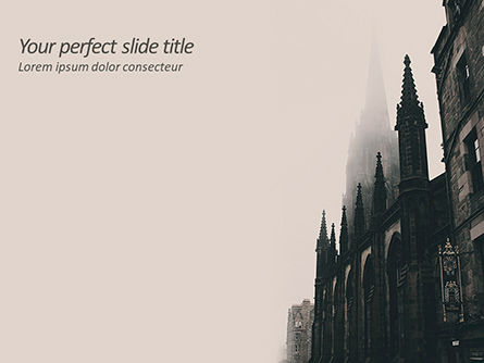 Construction: Gothic Architecture PowerPoint Template #15628