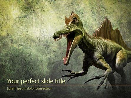 3D: Templat PowerPoint Spinosaurus #15630