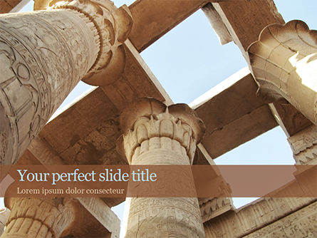 Construction: Karnak Temple PowerPoint Template #15634