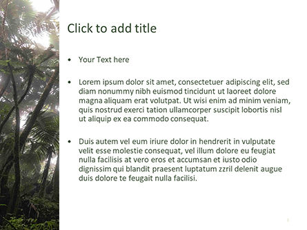 Tropical Rainforest PowerPoint Template, Slide 3, 15639, Nature & Environment — PoweredTemplate.com