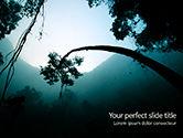 Nature & Environment: Regenwoud Zonsopgang PowerPoint Template #15640