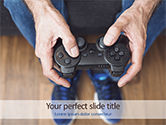 Careers/Industry: Gamepad PowerPoint Template #15642