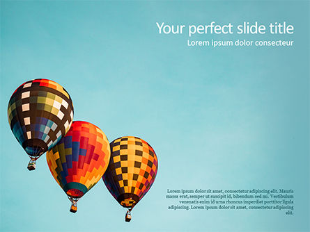 Careers/Industry: Hot Air Balloon Flights PowerPoint Template #15645