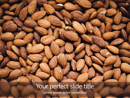 Food & Beverage: Almond PowerPoint Template #15646