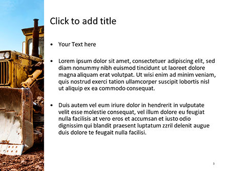Old Bulldoze PowerPoint Template, Slide 3, 15648, Cars and Transportation — PoweredTemplate.com