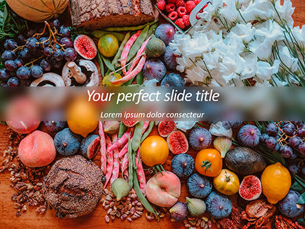 Food & Beverage: Summer Fruits and Vegetables PowerPoint Template #15649