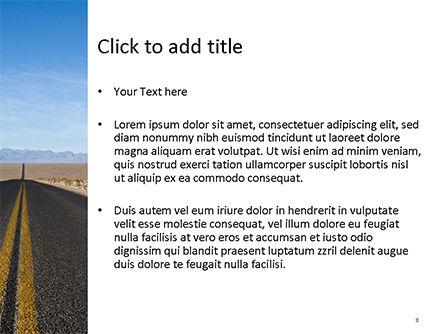 Open Road PowerPoint Template, Slide 3, 15651, Nature & Environment — PoweredTemplate.com