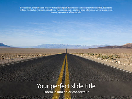 Nature & Environment: Open Road PowerPoint Template #15651