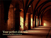 Construction: Gothic Hall PowerPoint Template #15657