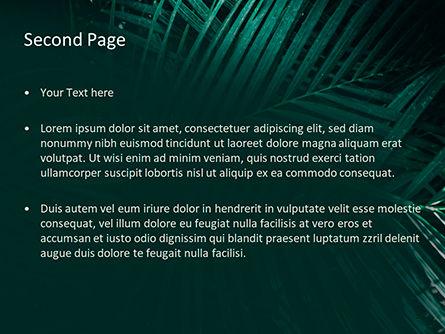 Palm Leaves PowerPoint Template, Slide 2, 15667, Nature & Environment — PoweredTemplate.com