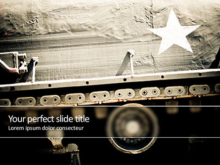 Military: Military Tank PowerPoint Template #15668