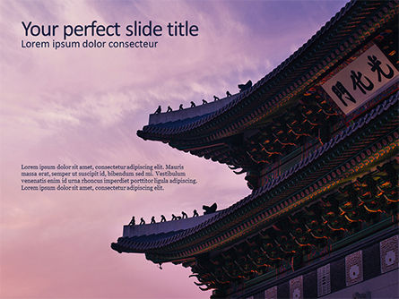 Construction: Chinese Tempel PowerPoint Template #15671