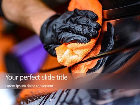 Drying a Car After Washing PowerPoint Template, 15680, Careers/Industry — PoweredTemplate.com