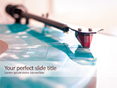 Art & Entertainment: Vinyl Player Stylus on a Rotating Disc PowerPoint Template #15686