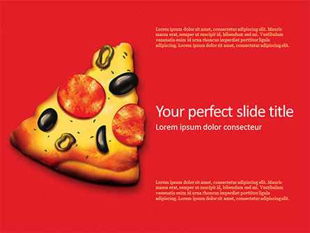 Food & Beverage: Slice of Pizza PowerPoint Template #15687