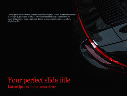 Part of a Black Car PowerPoint Template, 15688, Cars and Transportation — PoweredTemplate.com