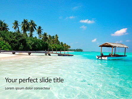 Nature & Environment: The Maldives PowerPoint Template #15695