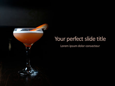 Food & Beverage: Cocktail with Orange PowerPoint Template #15699