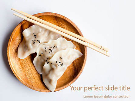Food & Beverage: Japanese Gyoza Dumplings PowerPoint Template #15701