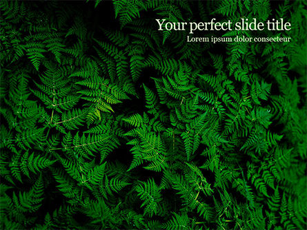 Nature & Environment: Fern Leaves PowerPoint Template #15703