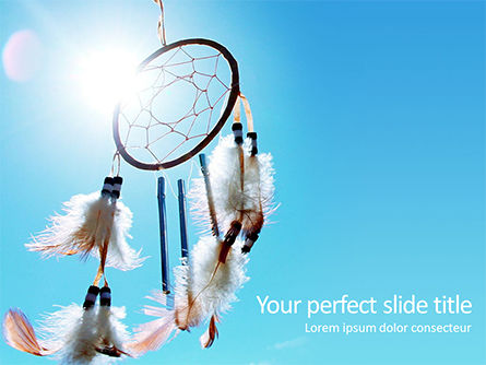 Art & Entertainment: Dreamcatcher PowerPoint Template #15704