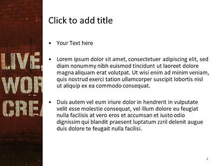 Street Motivation PowerPoint Template, Slide 3, 15707, Art & Entertainment — PoweredTemplate.com