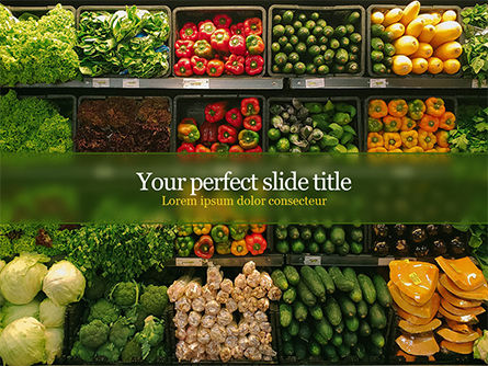 Food & Beverage: Vegetable Shop PowerPoint Template #15714