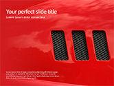 Cars and Transportation: 赤いスポーツカー - PowerPointテンプレート #15718