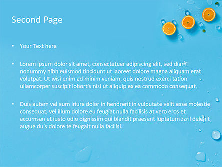 Summer Background with Oranges PowerPoint Template, Slide 2, 15722, Food & Beverage — PoweredTemplate.com